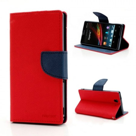Lommebok Etui for Sony Xperia Z2 Mercury R�d