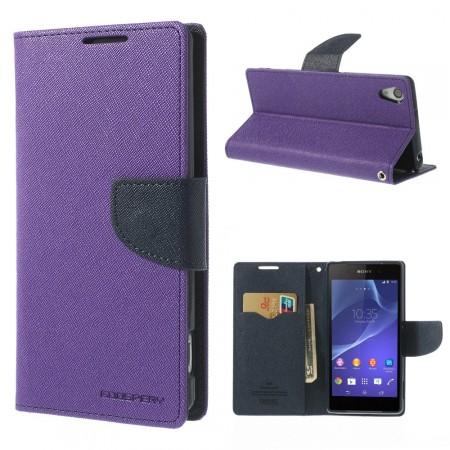 Lommebok Etui for Sony Xperia Z2 Mercury Lilla