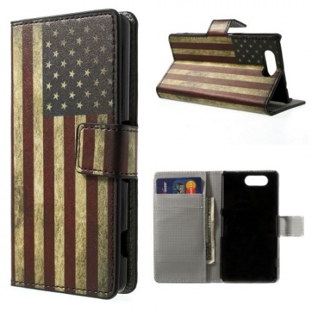 Lommebok Etui for Sony Xperia Z3 Compact Vintage USA