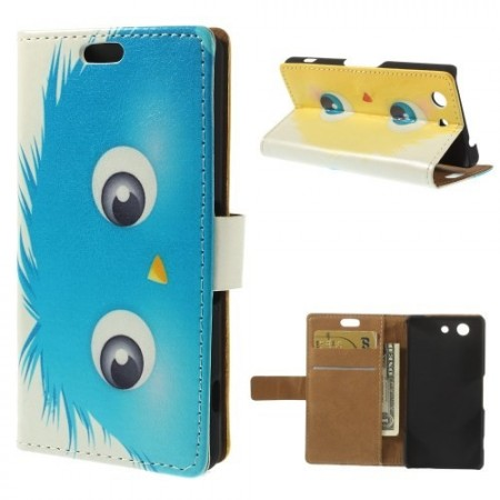 Lommebok Etui for Sony Xperia Z3 Compact Happy Monster 2