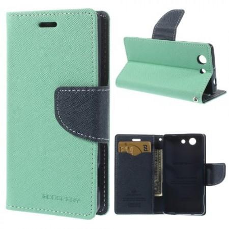 Lommebok Etui for Sony Xperia Z3 Compact  Mercury Mint Gr�nn