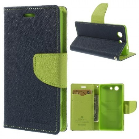 Lommebok Etui for Sony Xperia Z3 Compact  Mercury M�rk Bl�
