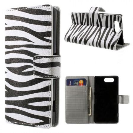 Lommebok Etui for Sony Xperia Z3 Compact Zebra