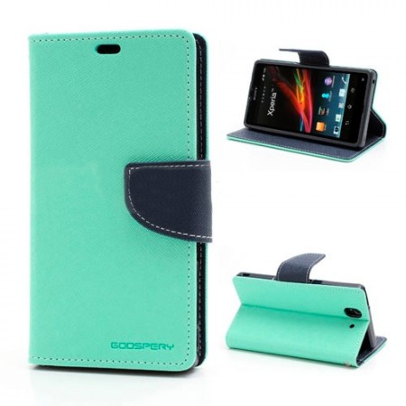 Lommebok Etui for Sony Xperia Z2 Mercury Mint Gr�nn