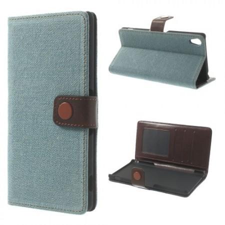 Lommebok Etui for Sony Xperia Z3 Denim Lys Bl�
