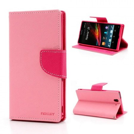 Lommebok for Sony Xperia Z1 Mercury Lys Rosa