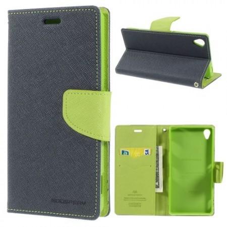 Lommebok Etui for Sony Xperia Z3 Mercury M�rk Bl�