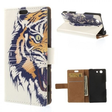 Lommebok Etui for Sony Xperia Z3 Compact Tiger