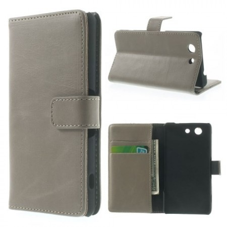 Lommebok Etui for Sony Xperia Z3 Compact Classic Gr�