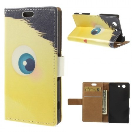 Lommebok Etui for Sony Xperia Z3 Compact Happy Monster 1