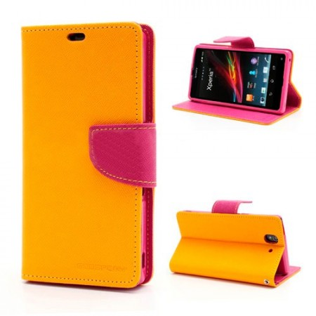 Lommebok Etui for Sony Xperia Z1 Compact Mercury Gul