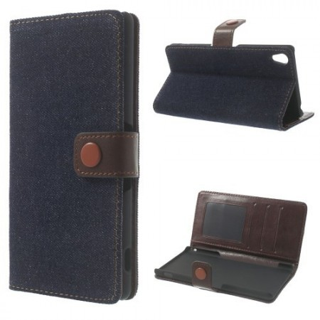 Lommebok Etui for Sony Xperia Z3 Denim Sort