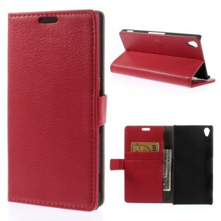 Lommebok Etui for Sony Xperia Z3 Classic R�d
