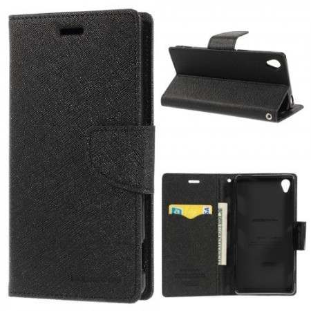 Lommebok Etui for Sony Xperia Z3 Mercury Svart