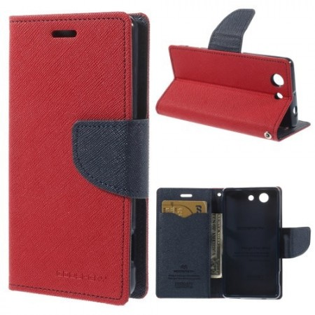 Lommebok Etui for Sony Xperia Z3 Compact  Mercury R�d