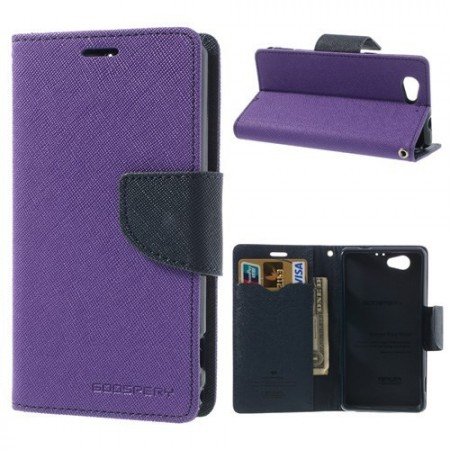Lommebok Etui for Sony Xperia Z1 Compact Mercury Lilla