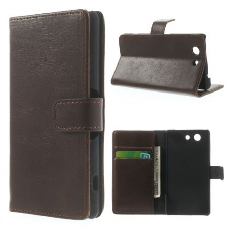 Lommebok Etui for Sony Xperia Z3 Compact Classic M�rk Brun