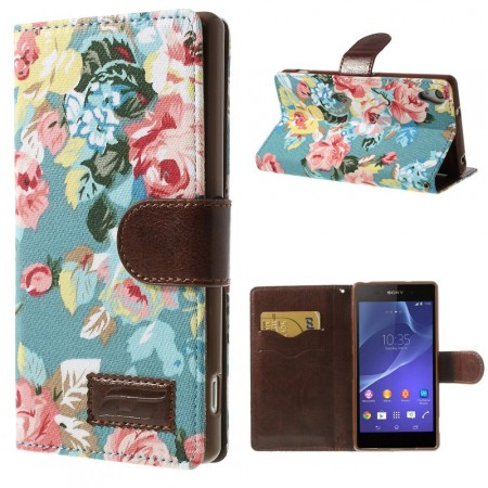 Lommebok Etui for Sony Xperia Z2 Rose Lys Bl�