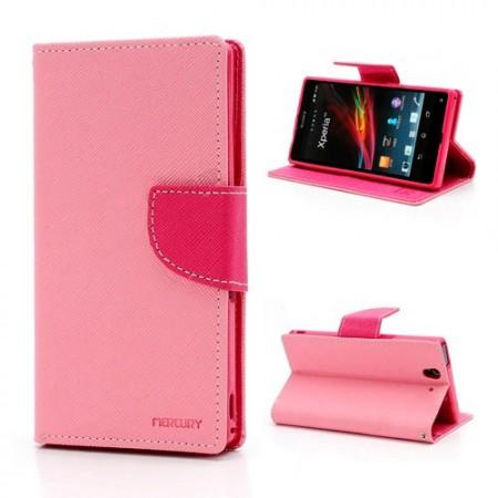Lommebok Etui for Sony Xperia Z2 Mercury Lys Rosa