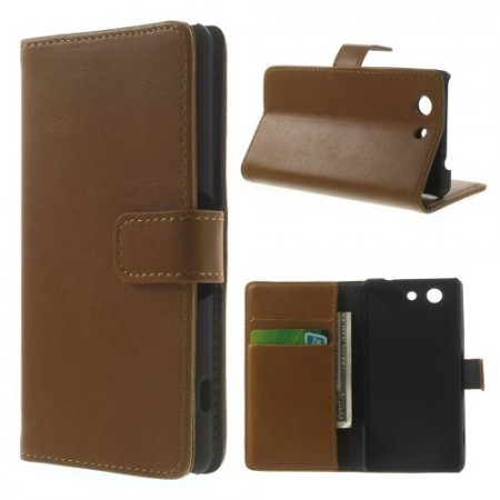 Lommebok Etui for Sony Xperia Z3 Compact Classic Lys Brun