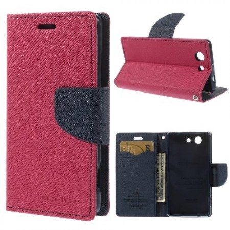 Lommebok Etui for Sony Xperia Z3 Compact  Mercury M�rk Rosa