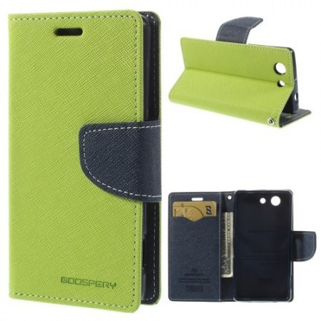 Lommebok Etui for Sony Xperia Z3 Compact  Mercury Lime Gr�nn