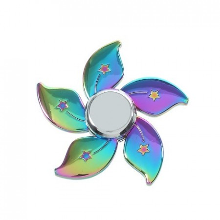 Fidget Spinner Collector Pentagon Star Rainbow Titanium
