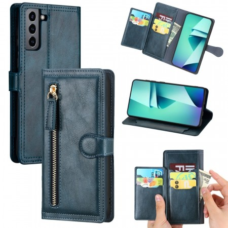 Galaxy S21+ (Pluss) Lommebok Etui Zipper